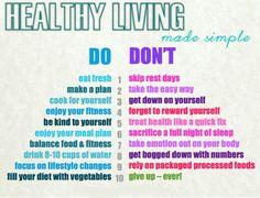 Healthy living made simple: Make a plan, eat fresh, enjoy your food :)  #HealthyLiving #FreshFood #Vegetables #Food2Live
