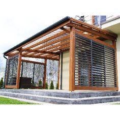 Brilliant Small Backyard Design Ideas On A Budget 22 Outdoor Pergola, Backyard Pergola, Outdoor Rooms, Backyard Landscaping, Modern Pergola, Pergola Kits, Outdoor Living Spaces, Deck With Pergola, Pergola Shade