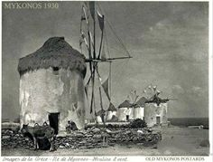 Mykonos Windmills 1930 photo