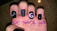 Nightmare Before Christmas nails  www.GetNailedByRoxy.com