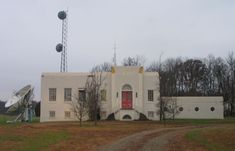 WHAS Radio transmitter building 25 miles Northeast of  Louisville, Ky, 1940s