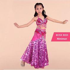 3 pcs Cheap Children Belly Dance Costume for Kids