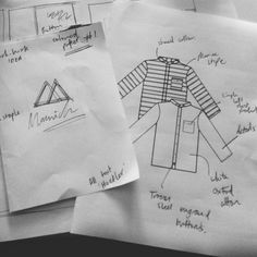 planning for the Backtor shirt look-book.