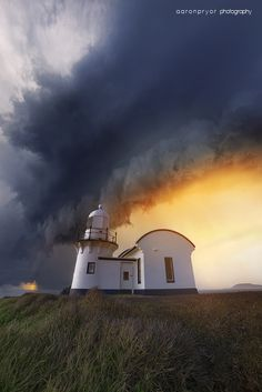 Storm front moving through port macquarie, taken at the lighthouse, Port Macquarie, Australia,