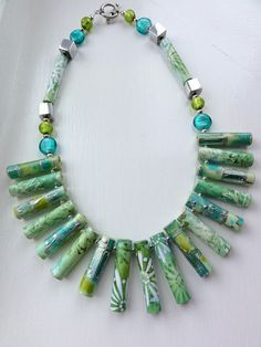 Paper beads necklace DSC03212 by desiredthings1, via Flickr