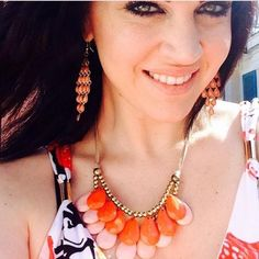 Jewelry - Boho Chic necklace in orange on Poshmark