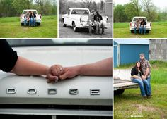Spring Engagement Session E-session www.studionineportraits.com Truck engagement, old truck session