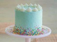 35 Incredibly Cute Kids' Birthday Cake Ideas - - Looking for simple birthday cake ideas that will please any child? Scroll these kids birthday cakes and cupcakes i to find the perfect recipe. 14th Birthday Cakes, Birthday Cakes For Teens, First Birthday Cakes, Simple Birthday Cakes, 3 Year Old Birthday Cake, Simple Birthday Cake Designs, Amazing Birthday Cakes, Birthday Parties Kids, 1 Year Old Cake