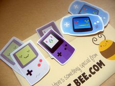Gameboy stickers from JellieBee.com