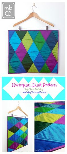 Introducing my latest venture, the Harlequin Quilt Pattern available in my Craftsy pattern store and also available as a kit via the Easy Piecing website.