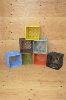 Primary color Milk Crates Room Shelves, Display Shelves, Shelving, Milk Crate Furniture, Milk Crates, Kid Toy Storage, Kids Toys, Vintage, Etsy
