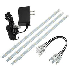 LEDwholesalers Linkable Under Cabinet Light Set of 3x 10-inch LED Strips 1977WW $11.28 @amazon lightening deal