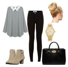 """"""""""" by diianasilva ❤ liked on Polyvore featuring Mulberry, Michael Kors and plus size clothing"""