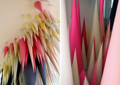 Hundreds of Paper Cones Create Colorful Cave Installation (1)
