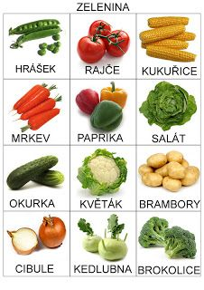Czech words for vegetable #czech #czechrepulic  #language  Pea, Tomato Maize / Corn,  Carrot, Pepper, Salad, Cucumber, Cauliflower, Potatoes, Onion, Kedlubna (??), Broccoli