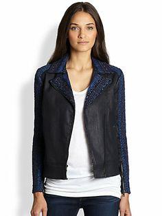 Malhia Kent Slim Illusion Moto Jacket | $260.00 #Fashion #Trending #Womens Fashion | Visit WISHCLOUDS.COM for more...
