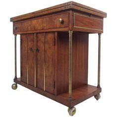Mid-Century Modern Burl Wood Bar Cart by Weiman 1