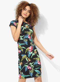 5901142107 Buy DOROTHY PERKINS Black Coloured Printed Bodycon Dress Online - 3289844 -  Jabong