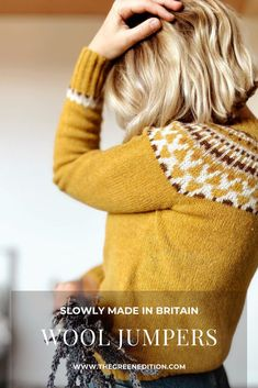 Five beautiful wool jumpers that are slowly made in the UK. Source by pebblemagazine fashion clothing Slow Fashion, Ethical Fashion, Fall Outfits, Fashion Outfits, Sustainable Fashion, Sustainable Style, Fashion Articles, Fashion Group, Fashion Moda