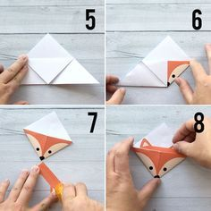 Origami Corner Bookmark Diy Woodland Animals Origami Bookmarks Print Fold Its Always. Origami Corner Bookmark How To Make An Easy Origami Corner Bookm. Design Origami, Instruções Origami, Origami Templates, Origami Fish, Paper Crafts Origami, Paper Crafting, Origami Star Box, Origami Ideas, Origami Sailboat