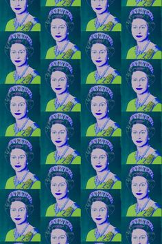 Flavor Paper's Andy Warhol Queen Elizabeth Paper in teal, from Cult Favorites September 2014