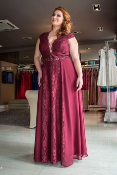 Lace prom dresses, burgundy a-line/princess prom dresses, long burgundy prom dresses, burgundy plus size prom dresses v-neck sexy lace long prom dress Prom Dresses With Sleeves, Plus Size Prom Dresses, Cheap Prom Dresses, Modest Dresses, Dress Prom, Party Dresses, Bride Dresses, Sleeve Dresses, Dress Long