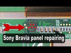 Sony TV panel, repairing the double image problem. Sony Lcd Tv, Sony Led, Double Image, Lcd Television, Tv Panel, Electronic Circuit Projects, Electronic Schematics, Tv Services, Circuit Design