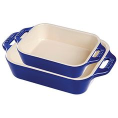 Staub Ceramic 2pc Rectangular Baking Dish Set Dark Blue ** Want additional info? Click on the image.