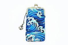 Waves Sailing Deep Blue Sea phone case gadget case  by lazydoll, $29.90