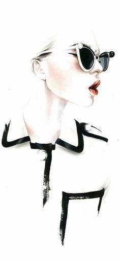 antoniosoares chanel ss2013 #illustration #fashion #fashionillustration