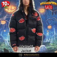 #Halloween Hot offer Get 70% OFF on #Akatsuki Men's #Naruto Puffer Black Jacket. Shop From jacketsmasters.com #HalloweenSale #Sale #2021 #OOTD #Style #Cosplay #Costume #Fashion #Jacket #fashionstyle #shopnow #Clothes #discountoffer #outfit #onlineshopping #discount #pumkinpatch #styleyourself #Halloween2021 #HalloweenGiftIdea #HalloweenCostume #halloween2021 #HalloweenClothes #HalloweenCostume2021 #HalloweenDay #Lettermans #Varsity #Bomber Puffer Jackets, Winter Jackets, Halloween Sale, Animation Series, Akatsuki, Canada Goose Jackets, Tv Series, Naruto, Shop Now