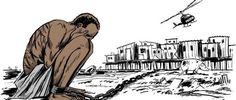 Image shared on social media in response to Rafael Braga's re-arrest in 2016. Latuff 2008