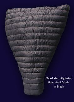Dual Arc Alpinists, A Two Person Sleeping Quilt by Nunatak.