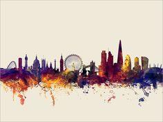 London Skyline London Cityscape England Art Print 1354 by artPause