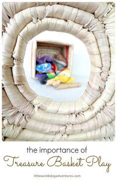 Treasure Basket Play for Babies | Little Worlds Big Adventures