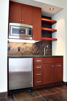 Small Kitchen Designs Kitchen Photos Kitchenette Design, Pictures, Remodel, Decor and Ideas - page 13 - Office Kitchenette, Kitchenette Design, Studio Kitchenette, Kitchenette Ideas, Home Decor Kitchen, Home Kitchens, Kitchen Ideas, Kitchen Designs, Mini Kitchen