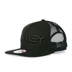 6681ba0fef9 Oakley Caps - Oakley Mesh Snapback Trucker Cap - Black Oakley Cap