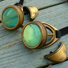 Steampunk Victorian Aviator GOGGLES glasses by oldjunkyardboutique, $29.99