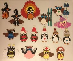 Stampin Up Owl Punch Holiday Embellishments 16 Paper Dolls