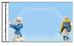 Smurfs: Free Printable Candy Bar Labels for Boys Party. Printable Labels, Party Printables, Free Printables, Candy Bar Labels, Oh My Fiesta, Candy Bags, Blogger Templates, Birthdays, Card Making