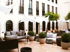 chic inside patio of Hotel Alma Seville