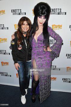 Paula Abdul and Elvira attend Knott's Scary Farm at Knott's Berry Farm on October 2016 in Buena Park, California. Goth Beauty, Dark Beauty, Elvira Movies, Halloween Pin Up, Bbc, Beautiful Young Lady, Beautiful Women, Angels Beauty, Cassandra Peterson