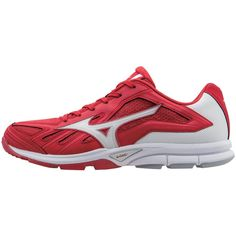 de5136ae394 Mizuno Players Trainer Baseball Shoes Mens Size 14 In Color Red-White (1000)