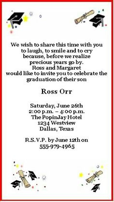 Free Printable Graduation Party Invitations Party invitations