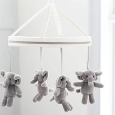 Harper Elephant Crib Mobile, Pottery Barn Kids