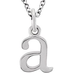 The Abbey Lower Case initial 'a' Necklace in Yellow Gold, 16 Inch, Women's, Size: 16 Inches Initial Earrings, Initial Pendant, Bow Jewelry, Fine Jewelry, Necklace Price, Jewelry Companies, Gold Fashion, Lowercase A, White Gold Diamonds