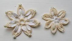 Bridal Headdress Cluny Motifs