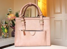 Zara Pink Fake Leather Bag 2013 Mini City With Zip Details art. 4380/304