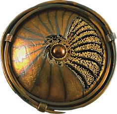 "Judith Kinghorn Jewelry Designs-Sea Creature-brooch/pendant-Sterling silver, 24 karat gold, 22 karat gold, pearl 2"" diameter"