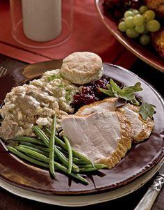 Family Thanksgiving with Trisha Yearwood - Thanksgiving with Family - Country Living -- recipes: No Baste Turkey/Grandma's Cornbread Dressing/Buttermilk Cornbread